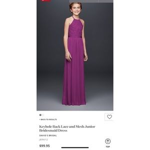 David's bridal Jr Bridesmaid dress